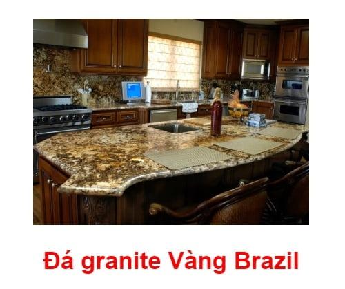đá vàng Brazil ốp bếp