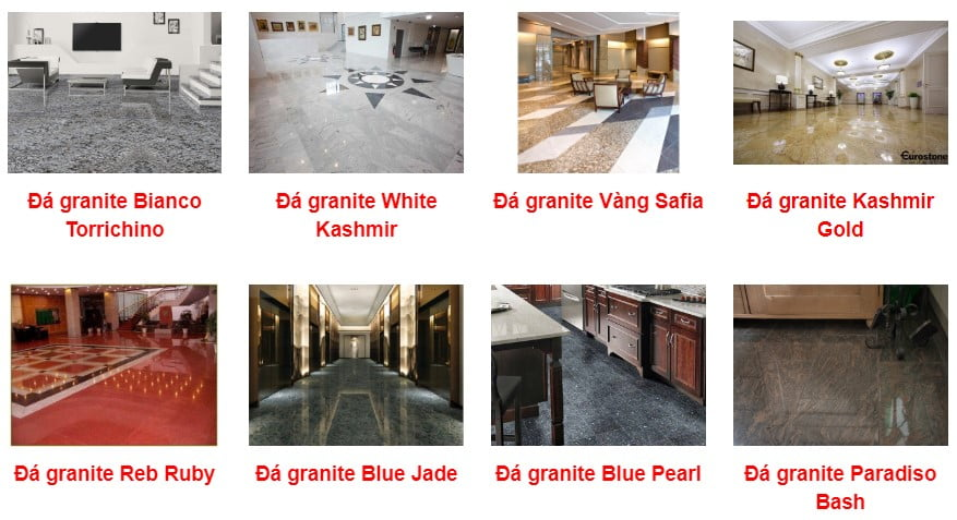 các loại đá granite dùng thi công đá lát nền