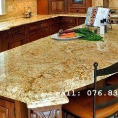 đá ốp bếp Solarius Gold