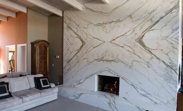 đá trắng Ý ốp tường
