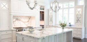 đá trắng Ý ốp bếp