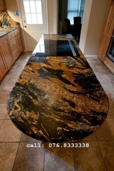 đá ốp mặt bàn đá magma gold