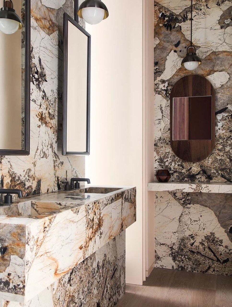 đá ốp phòng tắm Azu White Classic