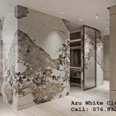 đá ốp tường đẹp Azu White Classic