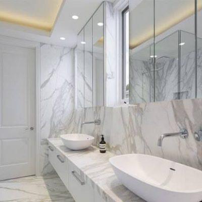 đá trắng ý ốp lavabo